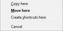 Right Mouse Copy/Move Context Menu