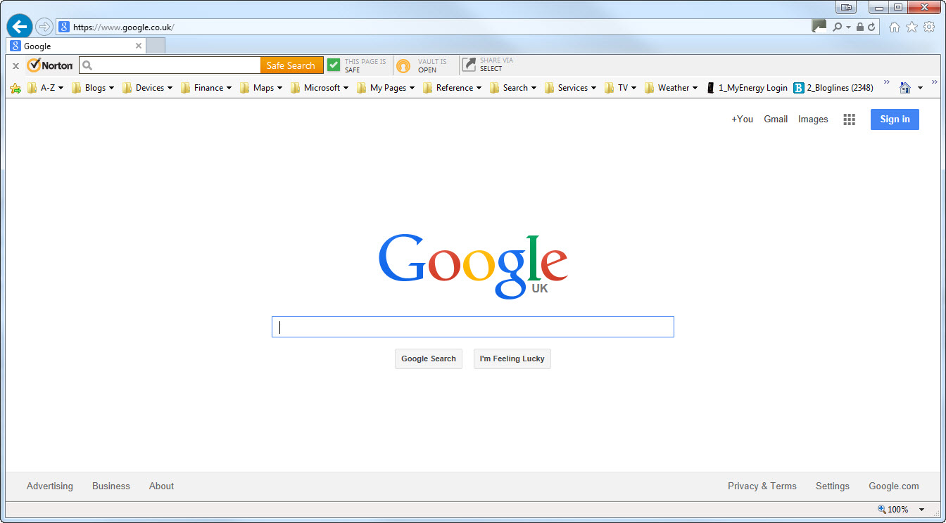 Make Google The Home Page In Windows 7
