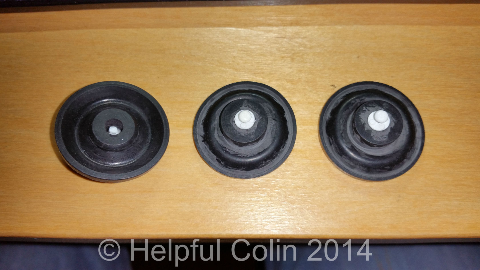 3 New Diaphragms With White Pins.